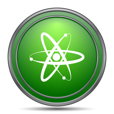 neutron: Atoms icon. Internet button on white background.