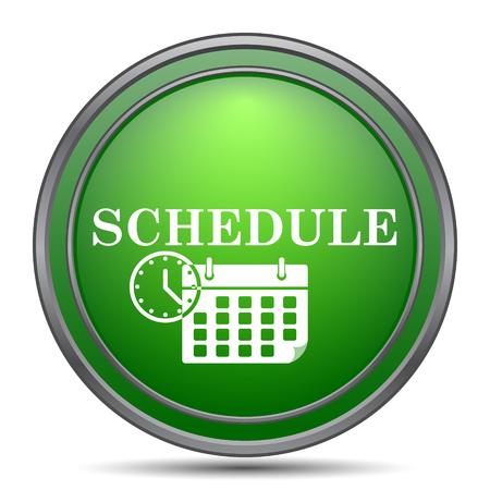 schedule reports: Schedule icon. Internet button on white background.