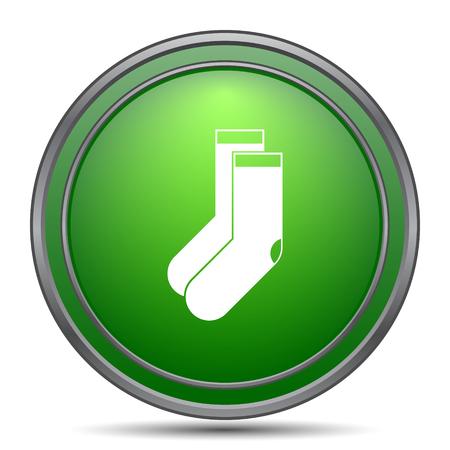 white socks: Socks icon. Internet button on white background.