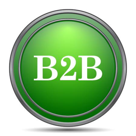 b2b: B2B icon. Internet button on white background. Foto de archivo