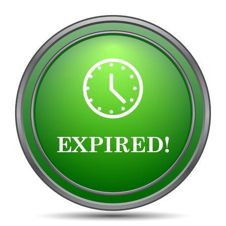 expired: Expired icon. Internet button on white background. Stock Photo
