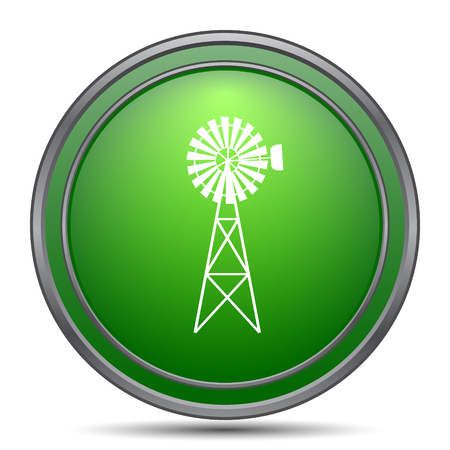 wind mills: Classic windmill icon. Internet button on white background.