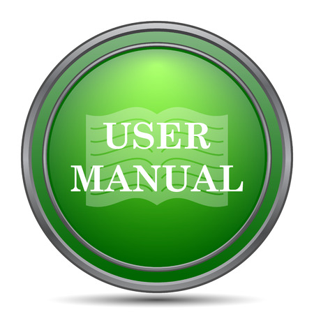 guidebook: User manual icon. Internet button on white background.