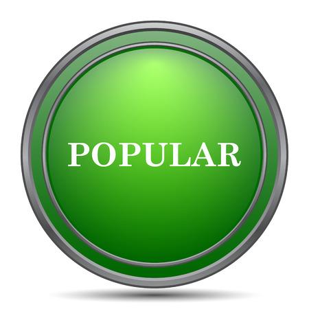 popular: Popular  icon. Internet button on white background. Stock Photo