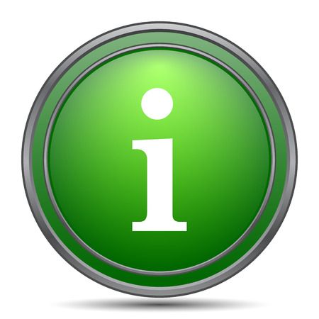 Info icon. Internet button on white background.
