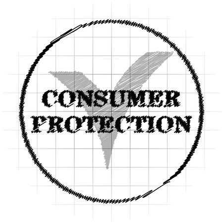 Consumer protection icon. Internet button on white background.