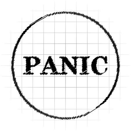 Panic icon. Internet button on white background. Stock Photo