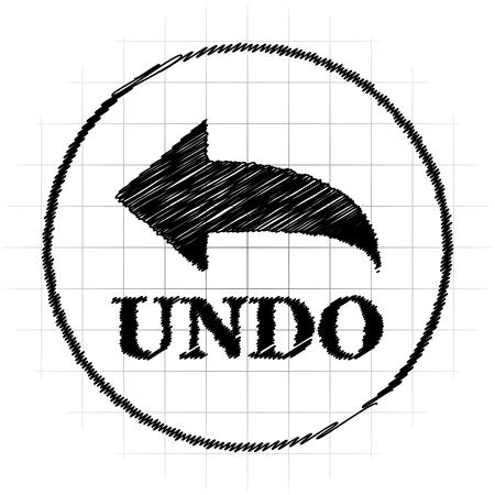 Undo icon. Internet button on white background. Stock Photo