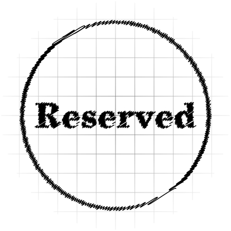 Reserved icon. Internet button on white background.