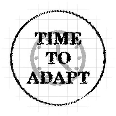Time to adapt icon. Internet button on white background. Stock Photo