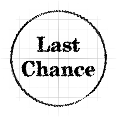 Last chance icon. Internet button on white background. Stock Photo