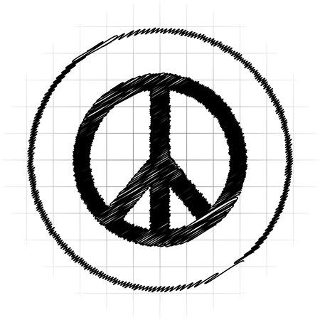 antiwar: Peace icon. Internet button on white background.