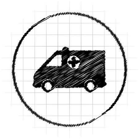 harm: Ambulance icon. Internet button on white background.