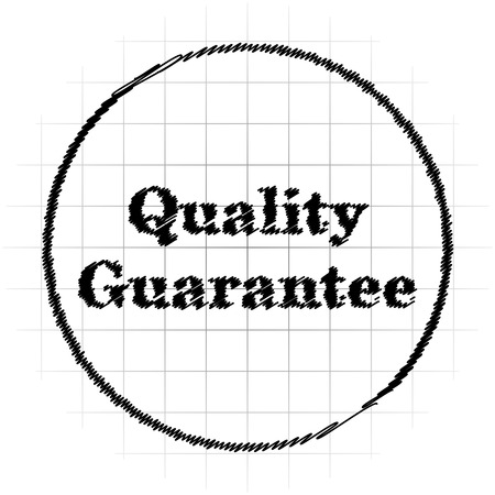 best security: Quality guarantee icon. Internet button on white background. Stock Photo