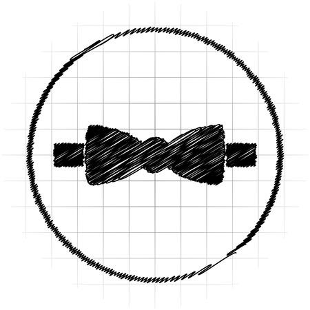 Bow tie icon. Internet button on white background. Stock Photo