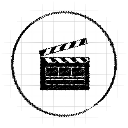 Movie icon. Internet button on white background.
