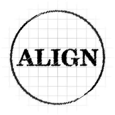 Align icon. Internet button on white background. Stock Photo