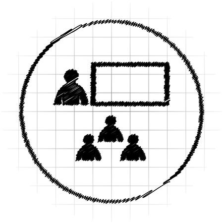 Presenting icon. Internet button on white background.
