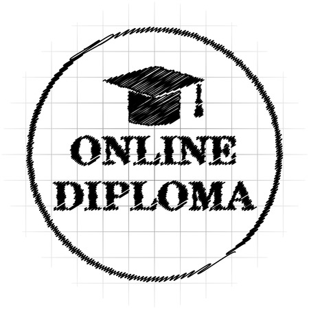 online diploma icon internet button on white background stock  online diploma icon internet button on white background stock photo picture and royalty image image 63258854
