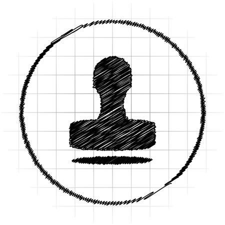 verify: Stamp icon. Internet button on white background. Stock Photo