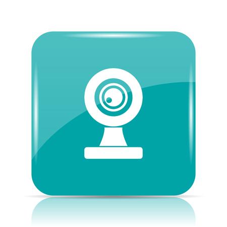 Webcam icon. Internet button on white background. Stock Photo