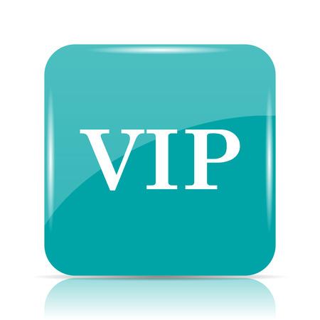 privilege: VIP icon. Internet button on white background. Stock Photo