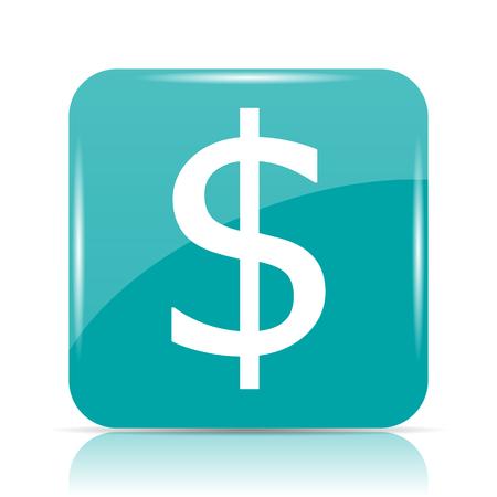 Dollar icon. Internet button on white background. Stock Photo