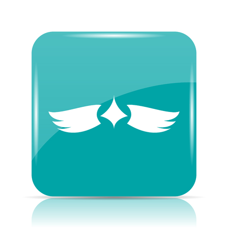pacification: Wings icon. Internet button on white background. Stock Photo