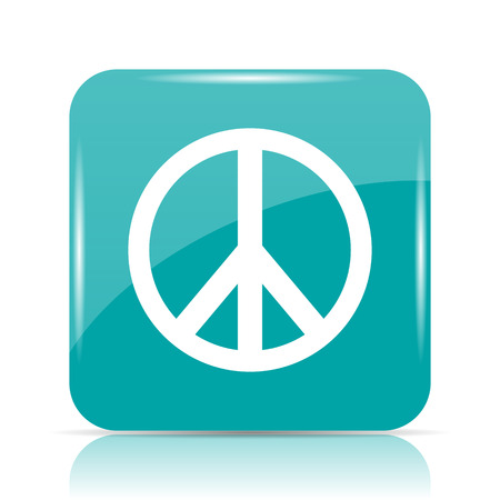 pacifist: Peace icon. Internet button on white background.