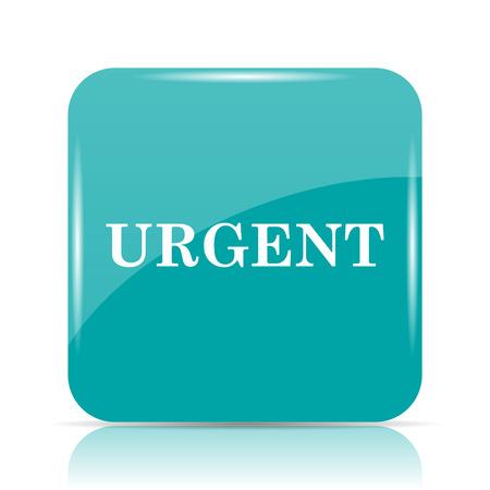 urgent: Urgent icon. Internet button on white background.
