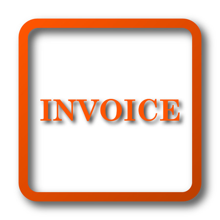 accounts payable: Invoice icon. Internet button on white background.
