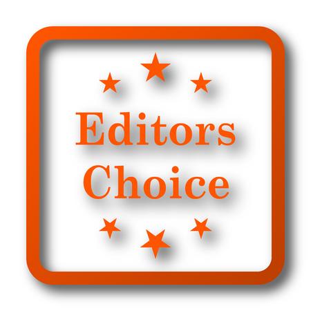 editors: Editors choice icon. Internet button on white background.