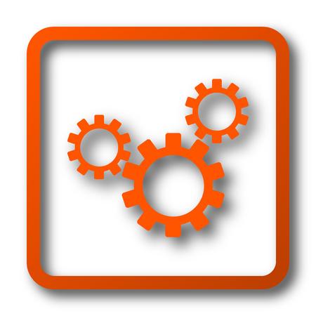 volume control: Settings icon. Internet button on white background. Stock Photo