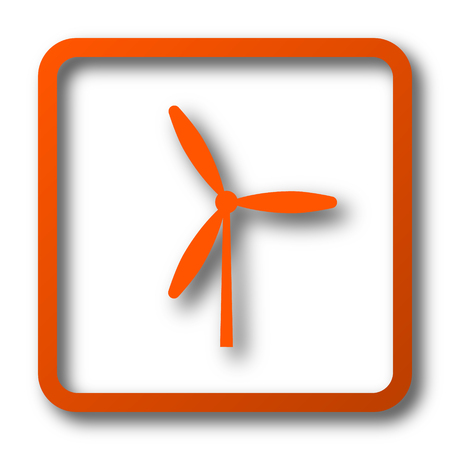 Windmill icon. Internet button on white background.