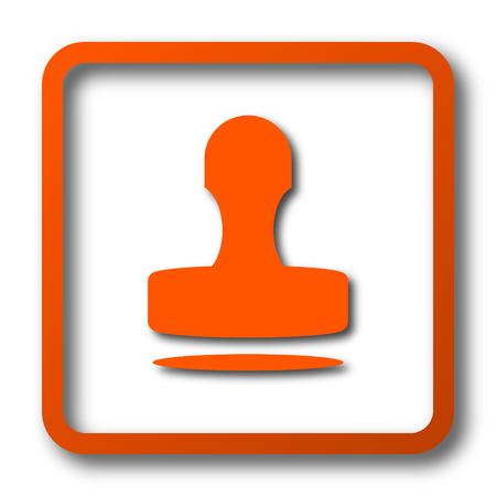 Stamp icon. Internet button on white background. Stock Photo