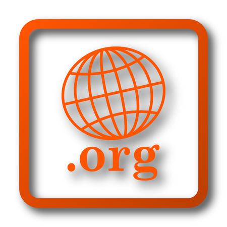 .org icon. Internet button on white background. Stock Photo