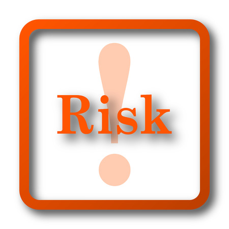 Risk icon. Internet button on white background.