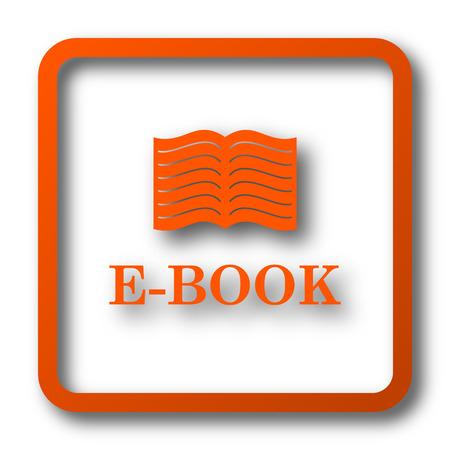 scribe: E-book icon. Internet button on white background.