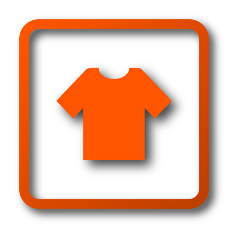 T-shirt icon. Internet button on white background.