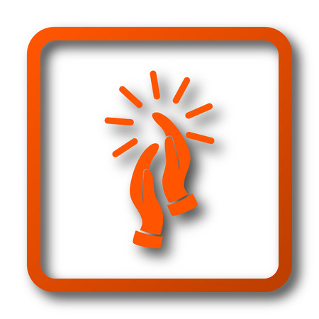 Applause icon. Internet button on white background.