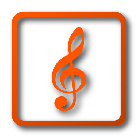 mp3 player: Musical note icon. Internet button on white background.