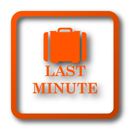 depart: Last minute icon. Internet button on white background.