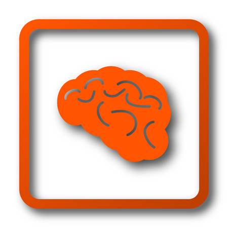 Brain icon. Internet button on white background. Stock Photo