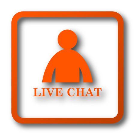 instant message: Live chat icon. Internet button on white background.