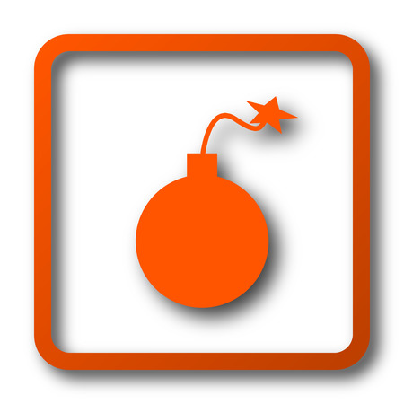 Bomb icon. Internet button on white background.