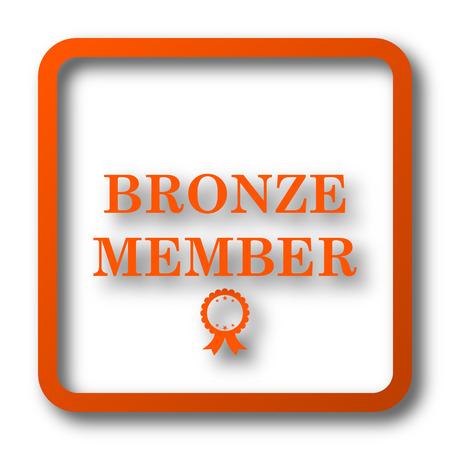 premium member: Bronze member icon. Internet button on white background. Stock Photo