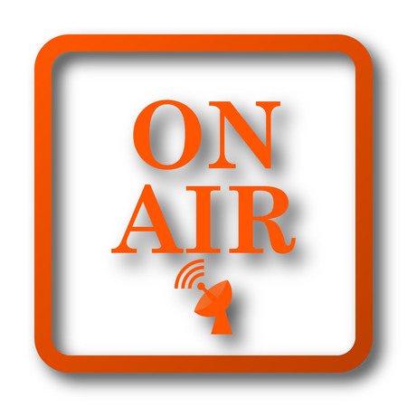 live stream tv: On air icon. Internet button on white background. Stock Photo