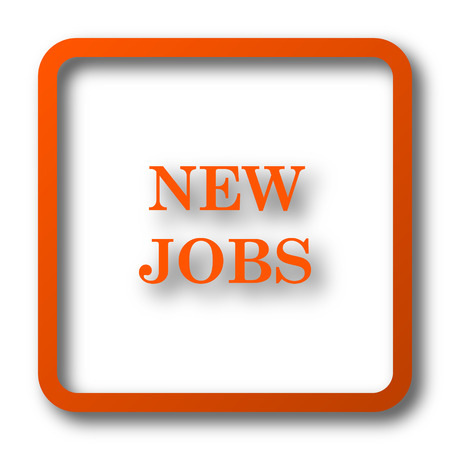 job offers: New jobs icon. Internet button on white background.