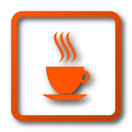 cup icon. Internet button on white background.