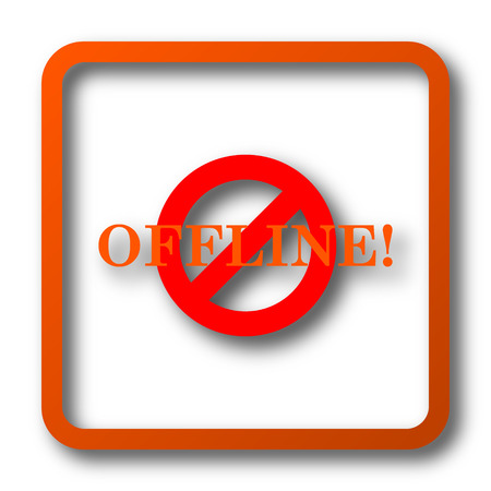 Offline icon. Internet button on white background.